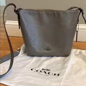 Coach cross body bag grey leather